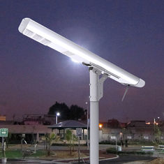 8000LM Motion Detector Street Lights Remotely Control All In One Lithium Battery Warm White