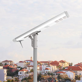 Stand Alone Solar Powered Led Pole Lights All In One Integrated Aluminum Lithium Battery
