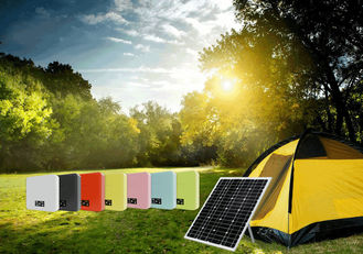 China 25W/50W Solar Powered Pole Lights , Solar Powered Led Lights For Camping Charging supplier
