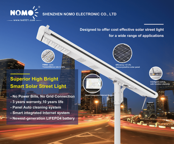 Outdoor Solar Led Area Lighting , 8000 Lumen Automatic Control Of Street Lights