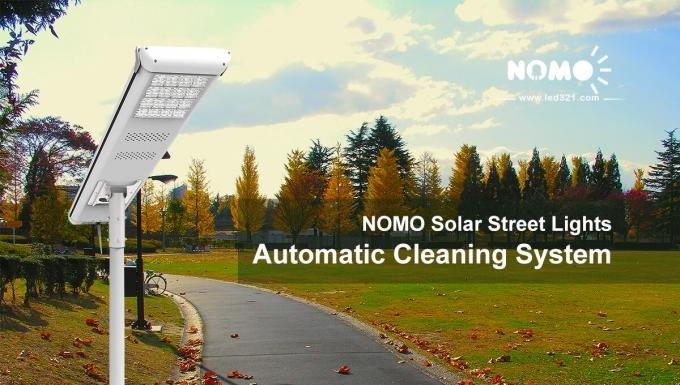 Super Brightness Self Cleaning Solar Panels / Solar Street Light Rosh Approved