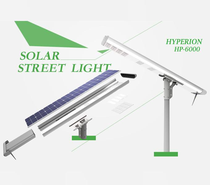 High Power All In One Solar LED Street Light MPPT Controller Long Life Span