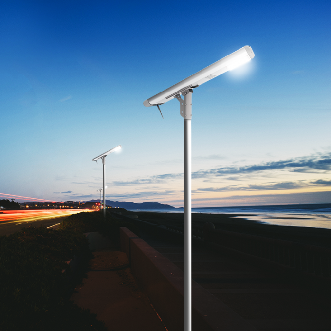Aluminium Alloy All In One Solar Street Light 35 M / S Wind Rate For Highway